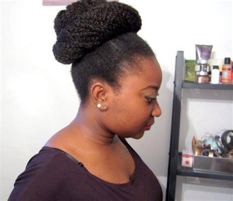 how to make a high bun with kinky twist coiffure big bun afro kinky afro mango cie