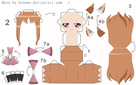 Anime Papercraft Template - 3d paper crafts anime templates
