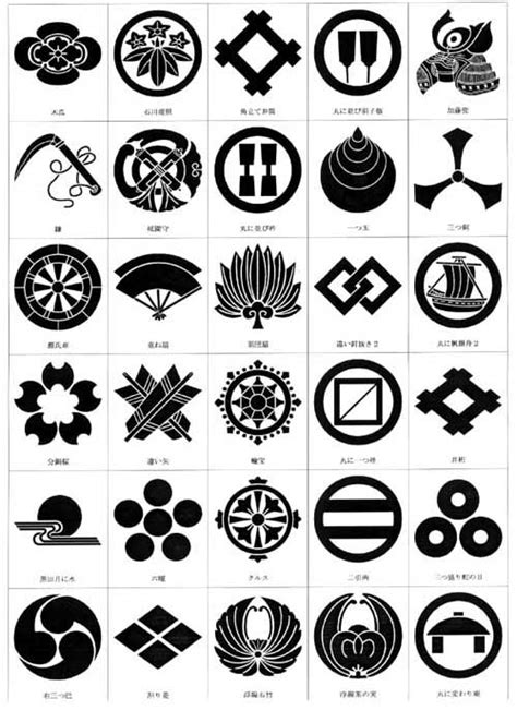 japanese pattern generator kamon japanese family crests bushido武士道 pinterest