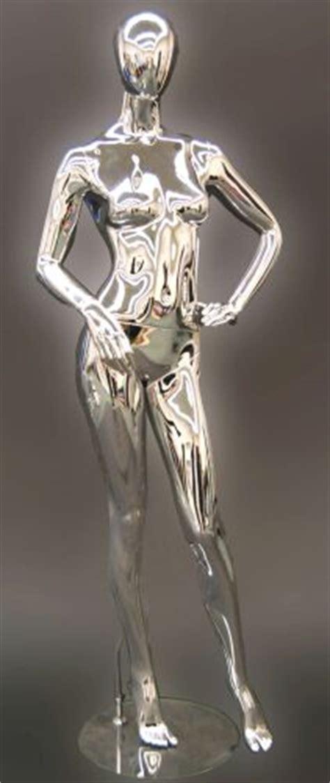 metallic mannequin chrome female mannequin display
