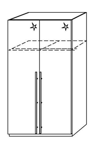 kleiderschrank weiss hochglanz 120 cm tassilo dreht 252 renschrank weiss hochglanz 120 cm ohne