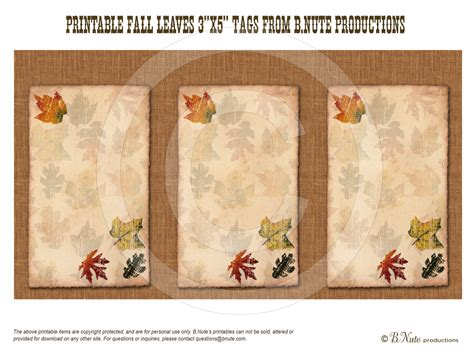 printable fall leaf tags bnute productions september 2013