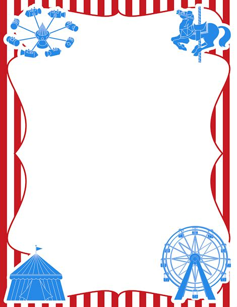Carnival Borders Clipart by Printable Carnival Border Free Gif Jpg Pdf And Png
