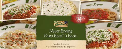 Olive Garden Pasta Bowl by Giveaway 25 To Olive Garden Never Ending Pasta Bowl Deal