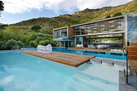 the backyard cape town cliff view modern spa house in cape town south africa by