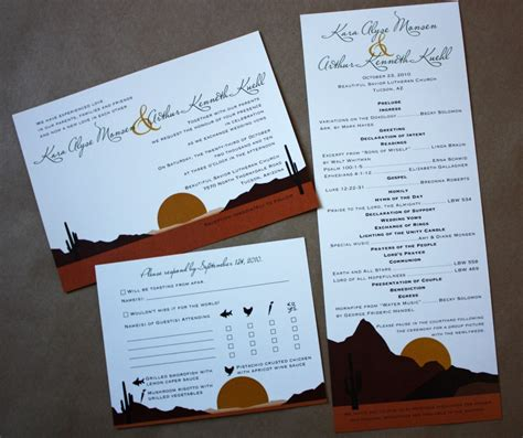 Wedding Invitations Tucson by Arizona Desert Themed Wedding Stationery Emdotzee Designs