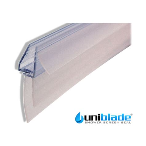 Uniblade 905mm Universal Shower Screen Seal To Suit Shower Seals For Curved Glass Doors