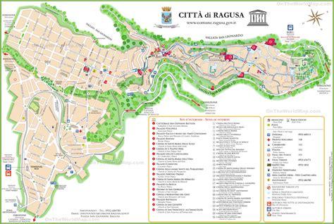 ragusa sicily map ragusa tourist map