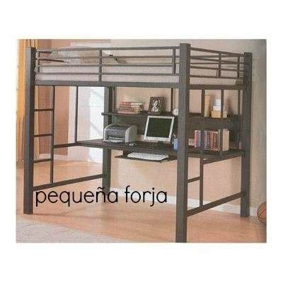 cama full form cama alta loft reforzada cama estudio de hierro escritorio