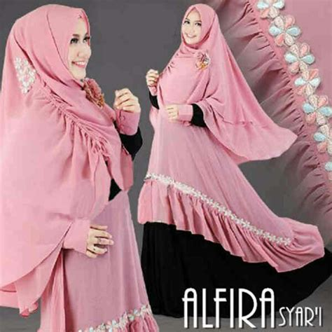 Dress Wanita Dress Muslim Wanita Naira Dress Pink Balotelly model gamis muslim modern terbaru 28 images model