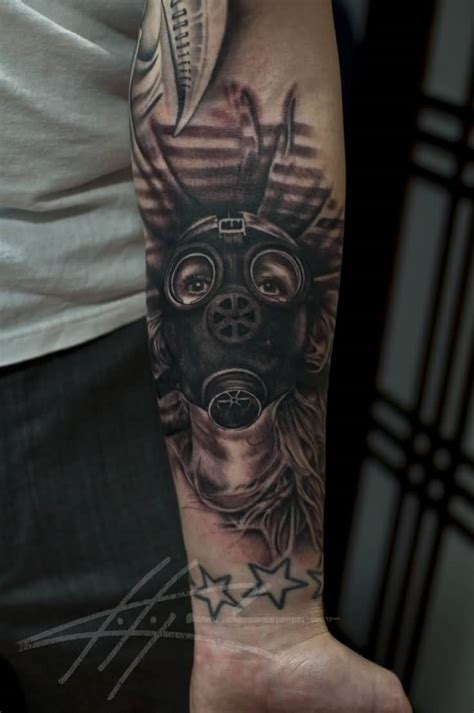 gas mask tattoos 28 gas mask tattoos