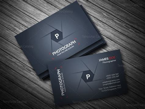 Photographer Business Card Template Template Catalog Card Templates For Photographers