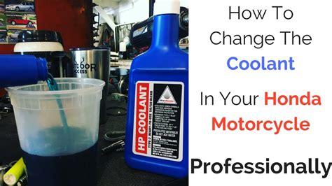 Honda Coolant how to change coolant honda vt1100