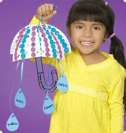 april showers umbrella mobiles at lakeshore learning