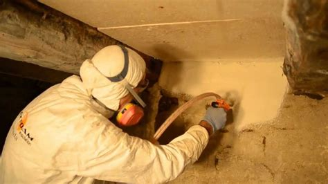 Basement Insulating Basement Ceiling Crawl Space Using Spray Foam In Crawl Space Or Basement Youtube