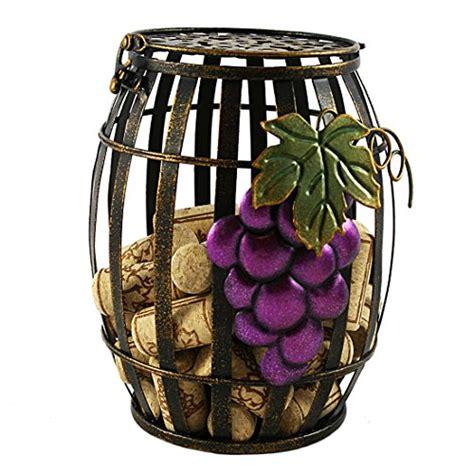 Decorative Wine Corks by Wine Barrel Grape Cork Holder Rustic Decorative