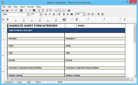 faq template word form questions as a standard memo