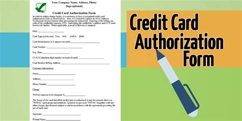 credit card authorization forms 25 credit card authorization form template free