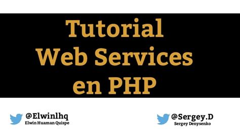 tutorial on web services tutorial web services en php rest soap
