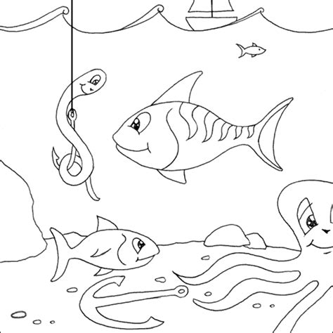 fish under the sea coloring pages sketch coloring page