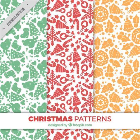 svg pattern object decorative patterns set of christmas objects vector free