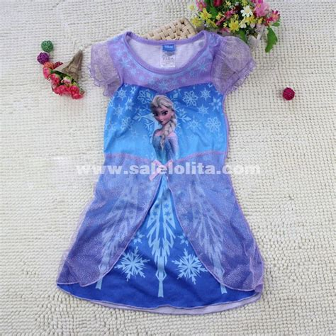 Print Dress Frozen new frozen kid summer dress disney elsa print pattern