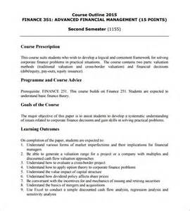 Administration Course Outline course outline template 10 free sle exle format