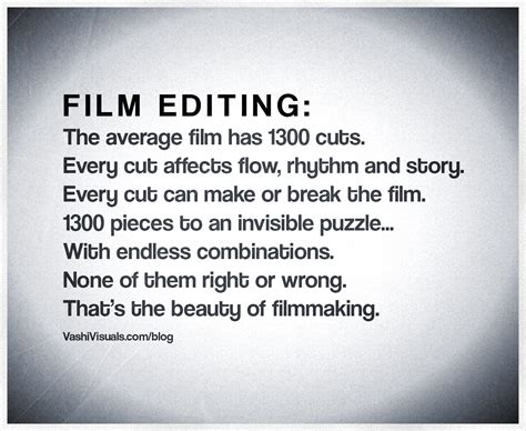 Film Editing Quotes   what does a film editor do vashivisuals blog