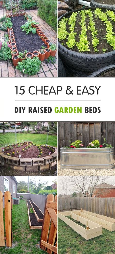 Cheap Raised Planters by 15 Cheap Easy Diy Raised Garden Beds Raising Backyard