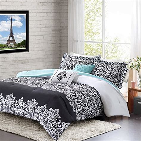 white and teal comforter teen girl comforter sets teal black white damask bedding