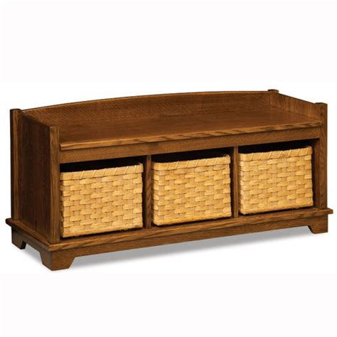 lattice bench lattice weave bench with baskets home wood furniture