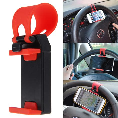 Car Holder Stering car steering wheel mount holder rubber band for andriod