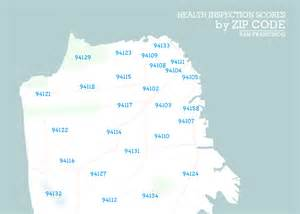 Sf Zip Code Map by How Clean Are San Francisco Restaurants 187 Missionlocal