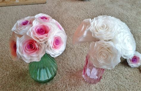 How To Make Paper Flowers From Coffee Filters - make these gorgeous wedding flowers out of coffee filters