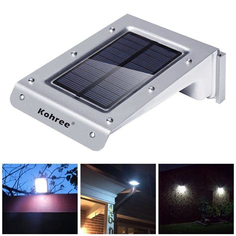 Kohree 20 Led Solar Powered Motion Sensor Outdoor Light Led Porch Light Fixture