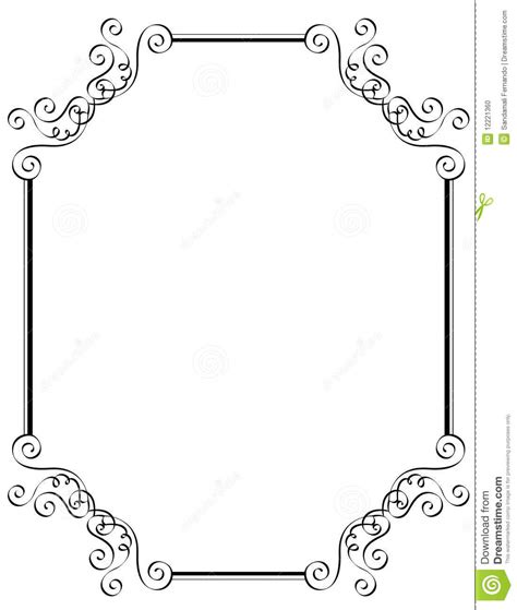 black and white border cards template printable borders and frames clip 62