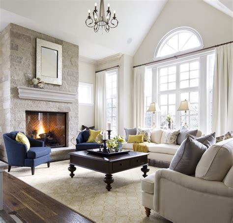 living room looks a warm white and soft grey palette makes the large great