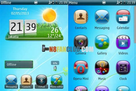 java hd themes download abstract aero hd theme 1 0 for nokia n8 belle