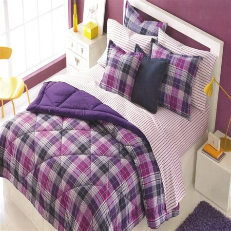 twin plaid comforter martha stewart essentials c plaid twin comforter purple