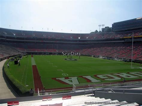 sanford stadium student section sanford stadium section 143 rateyourseats com
