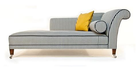 Black And White Chaise Duresta Juliette Chaise Black And White Stripe