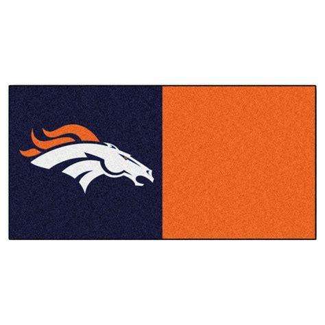 Detroit Lions Home Decor by Trafficmaster Nfl Denver Broncos Navy Blue And Orange