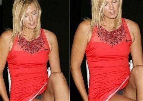 sexy tennis players: maria sharapova panty pic