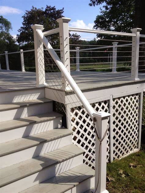 Stainless Steel Deck Railing by Best 25 Stainless Steel Cable Railing Ideas On