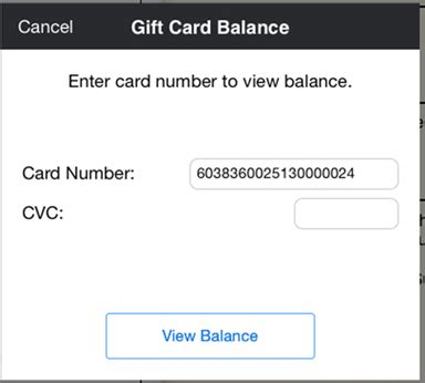 Chapter Gift Card Balance - using the moneris payment gateway touchbistro