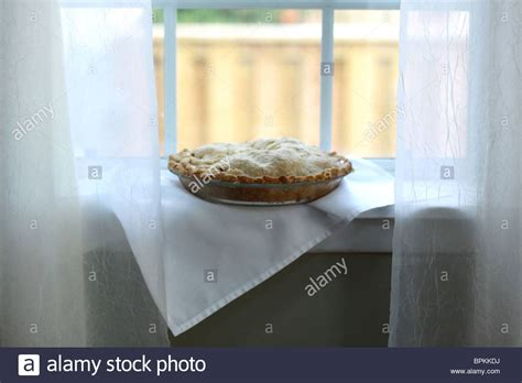 Pie On Window Sill An Apple Pie Cooling On A Window Sill Stock Photo Royalty