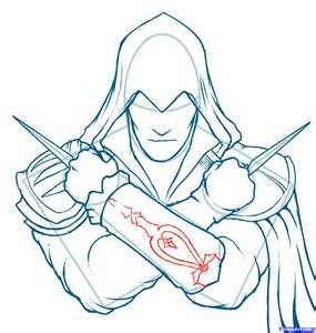 doodle drawing how to how to draw ezio assassins creed ezio step by step
