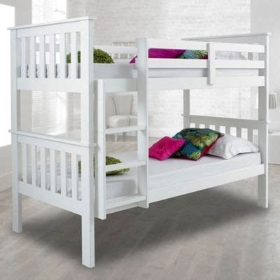 Buy Happy Beds Atlantis White Solid Pine Wooden Bunk Bed 2 Bunk Bed White Wood
