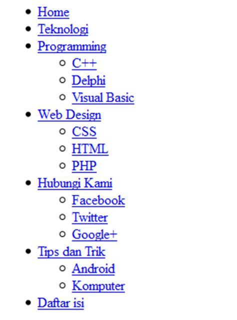 membuat menu dropdown di visual basic cara membuat dropdown menu sederhana dengan html dan css