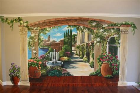 painted murals for rooms 162 best trompe l oeil images on murals wall paintings and fresco